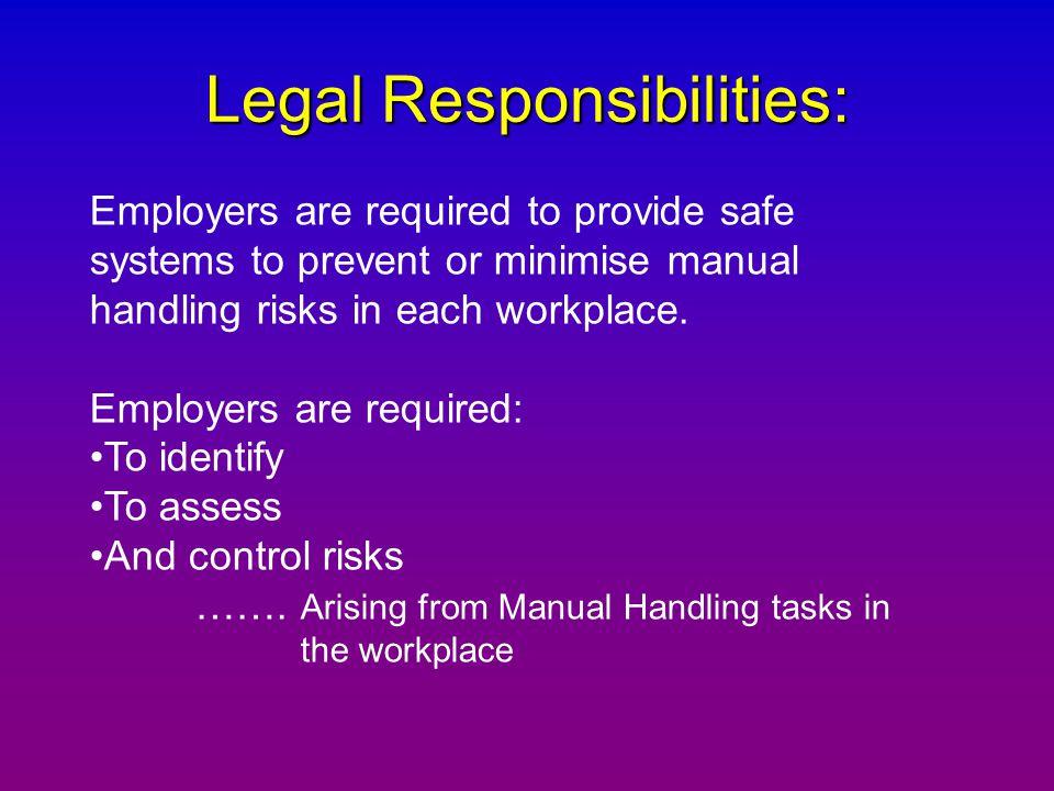 Legal Responsibilities: