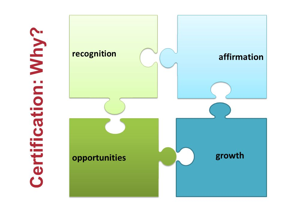 Certification: Why affirmation growth opportunities recognition