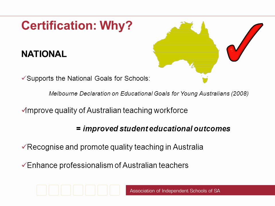 Certification: Why NATIONAL