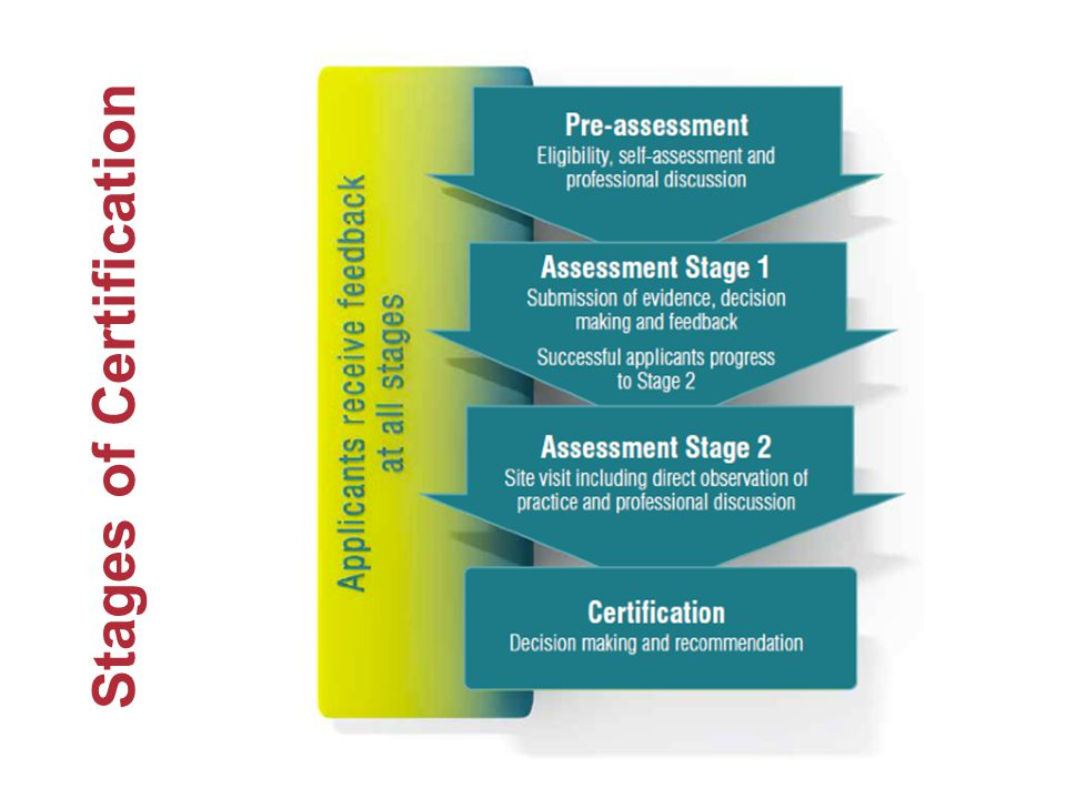 Stages of Certification