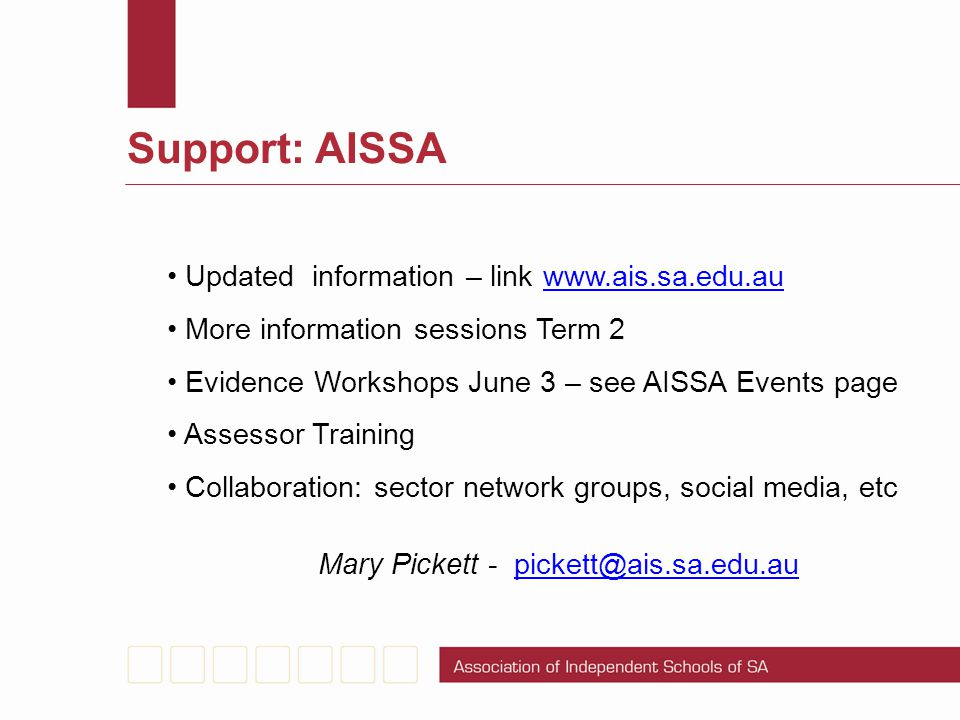 Mary Pickett - pickett@ais.sa.edu.au