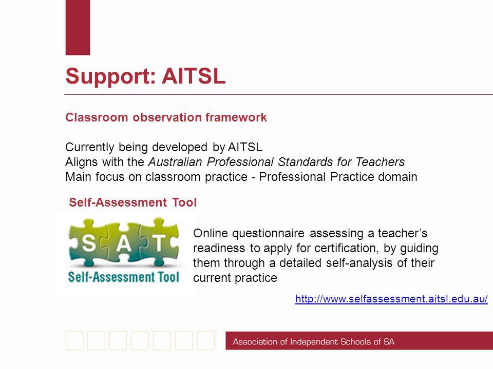 Support: AITSL Classroom observation framework