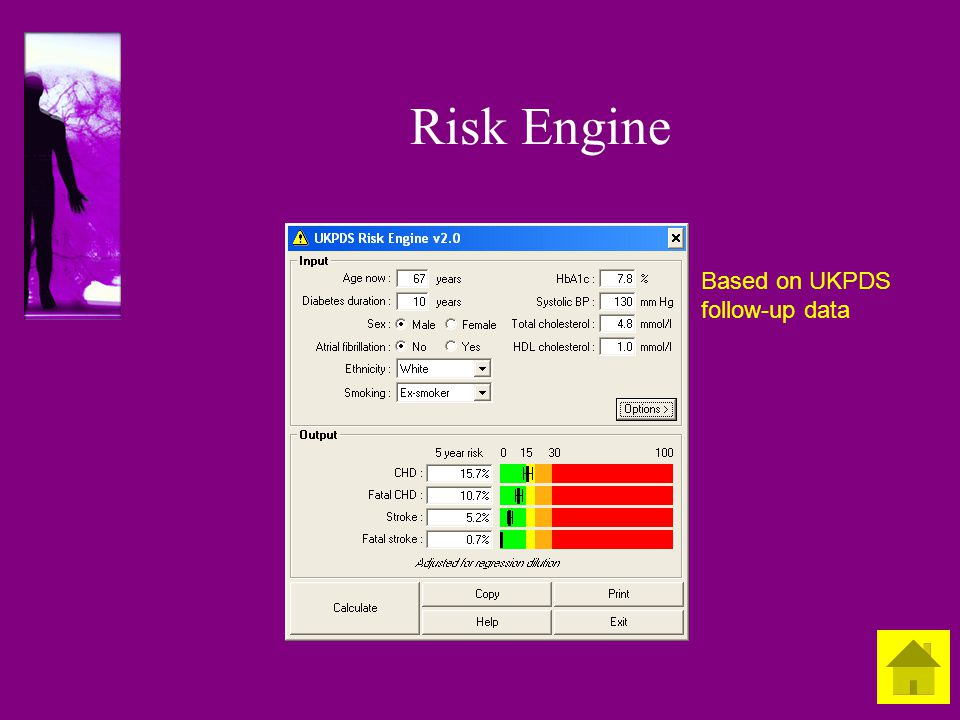 Risk Engine Based on UKPDS follow-up data