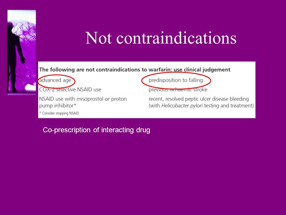 Not contraindications