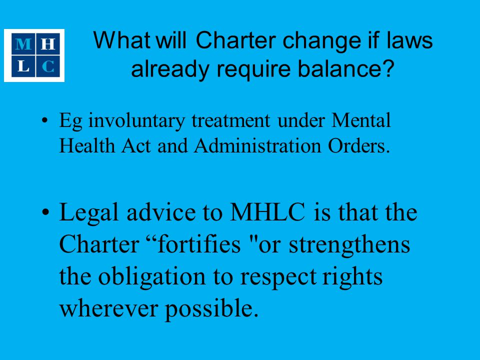 What will Charter change if laws already require balance