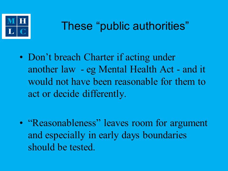 These public authorities