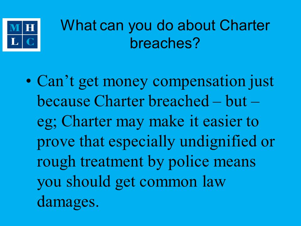 What can you do about Charter breaches
