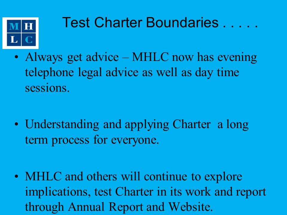 Test Charter Boundaries . . . . .