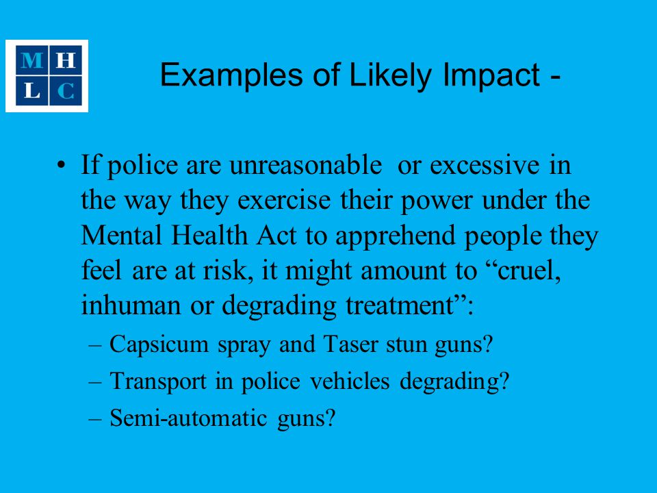 Examples of Likely Impact -
