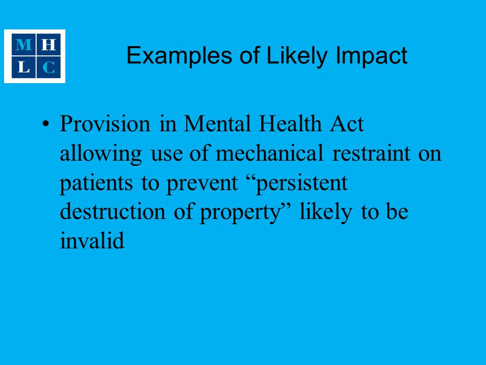 Examples of Likely Impact