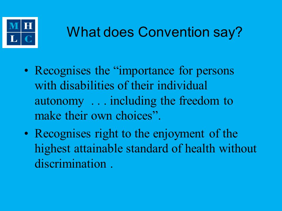 What does Convention say
