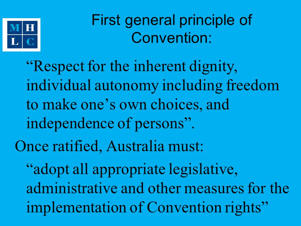 First general principle of Convention: