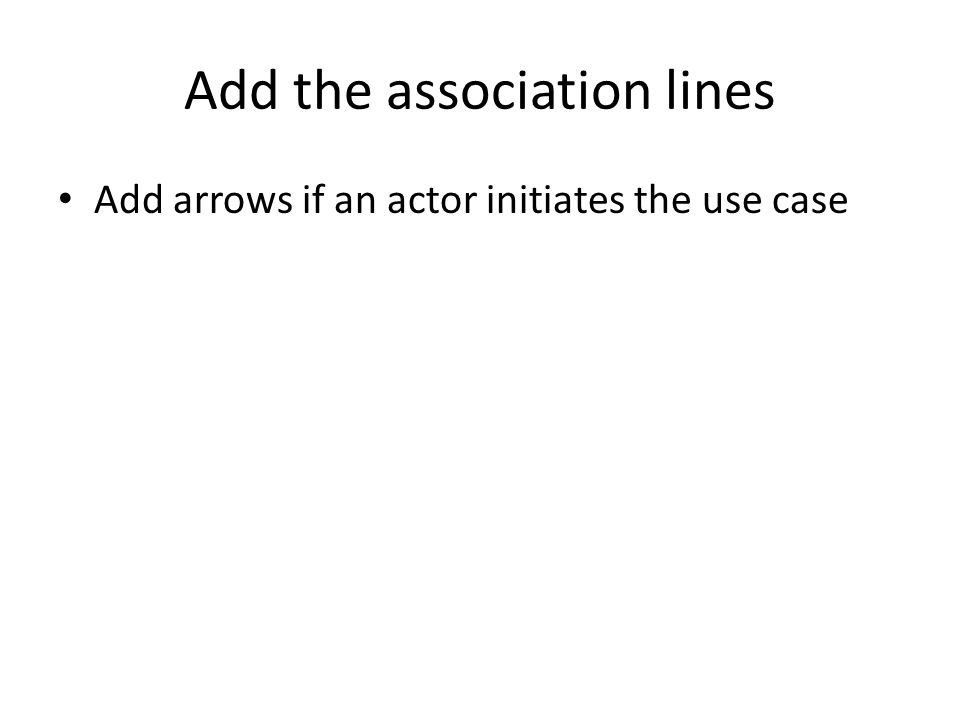 Add the association lines