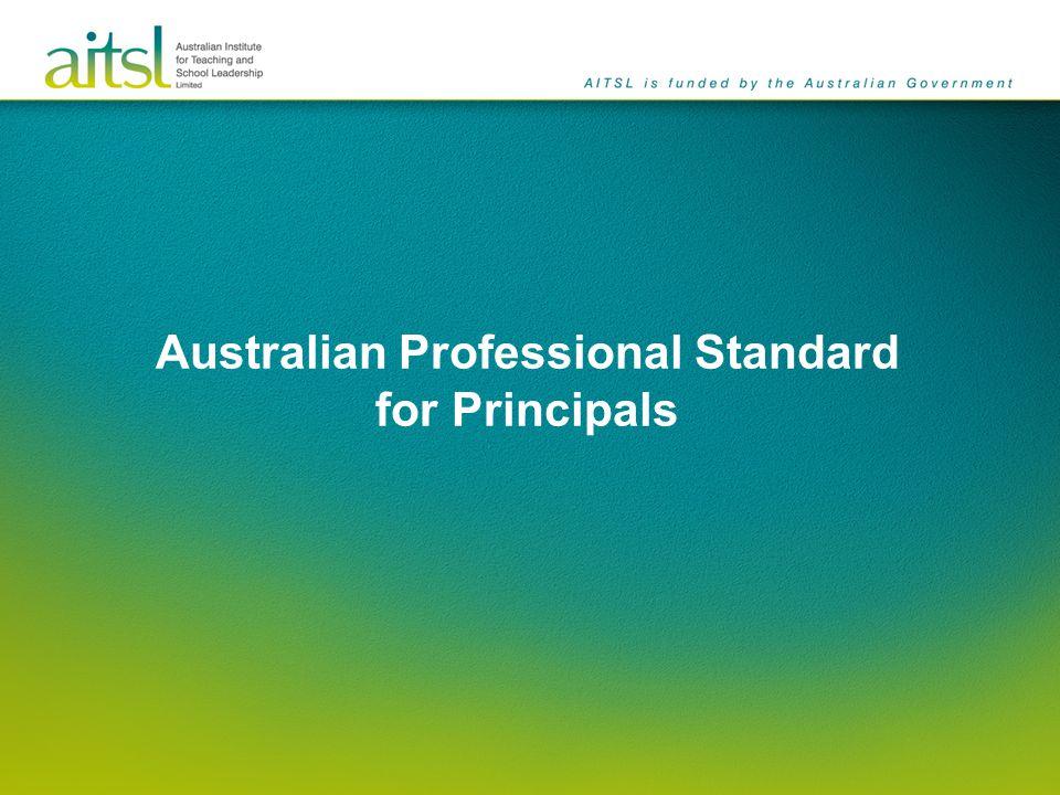 Australian Professional Standard for Principals