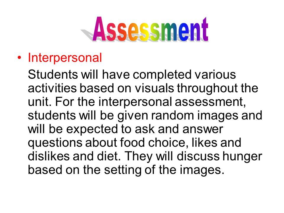 Assessment Interpersonal