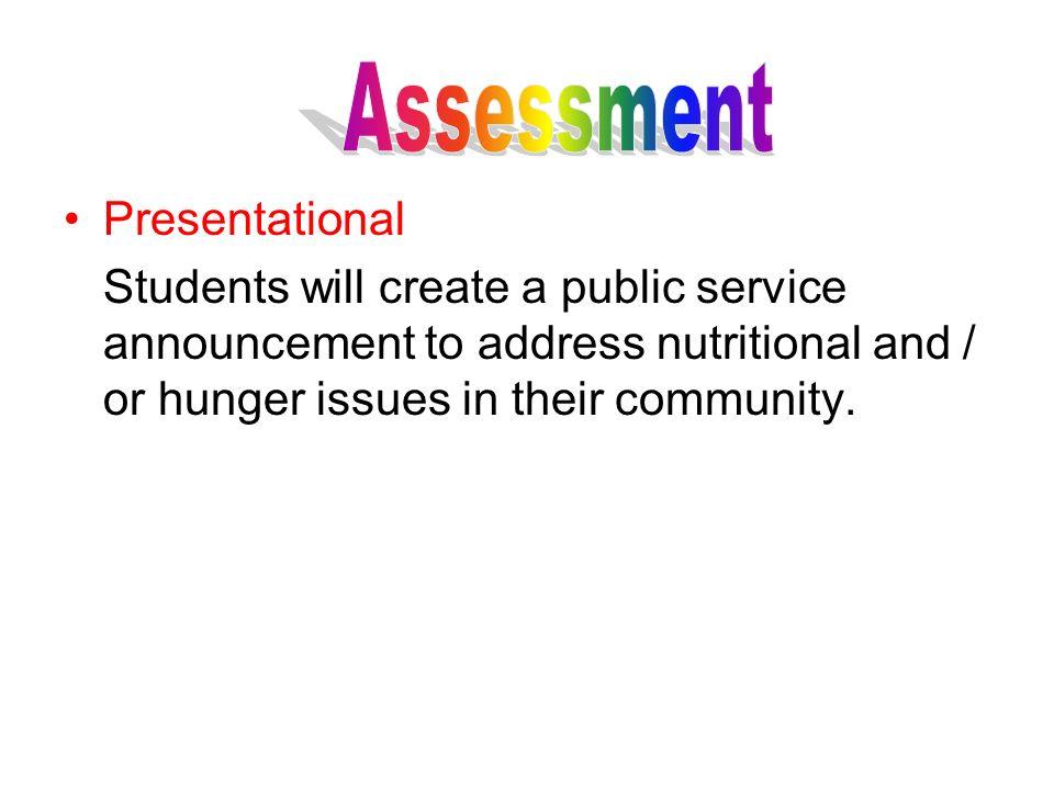 Assessment Presentational