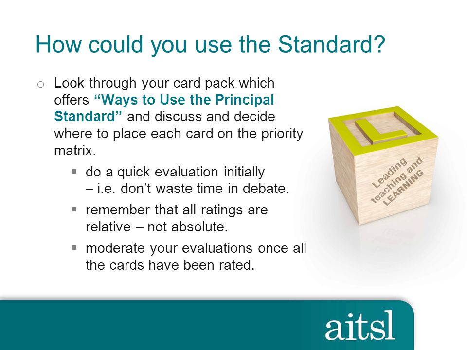 How could you use the Standard