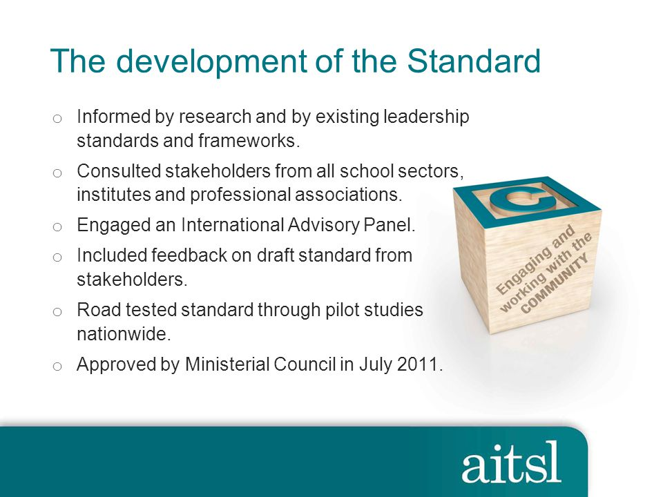 The development of the Standard