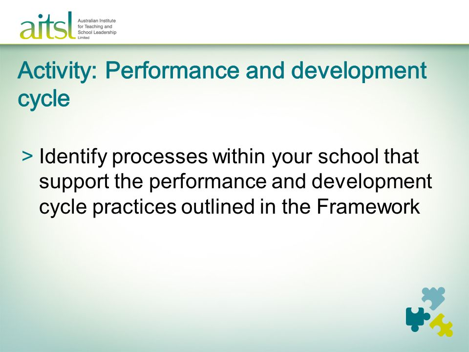 Activity: Performance and development cycle