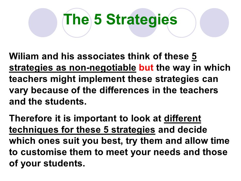 The 5 Strategies