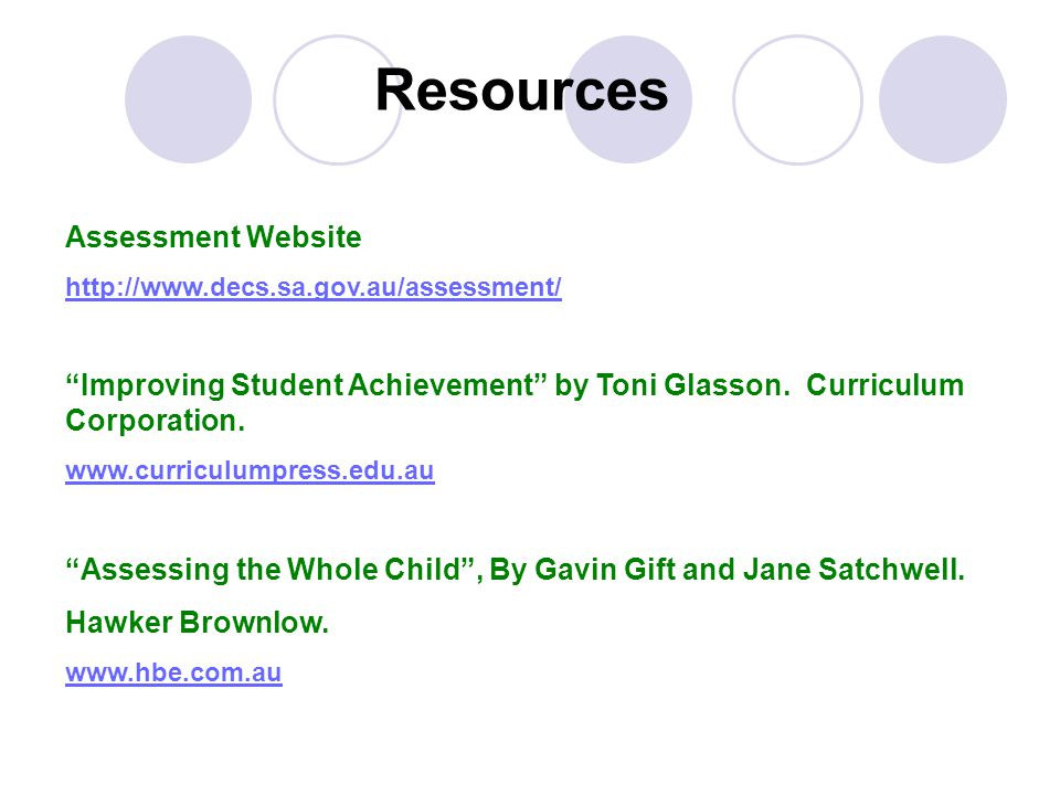 Resources Assessment Website