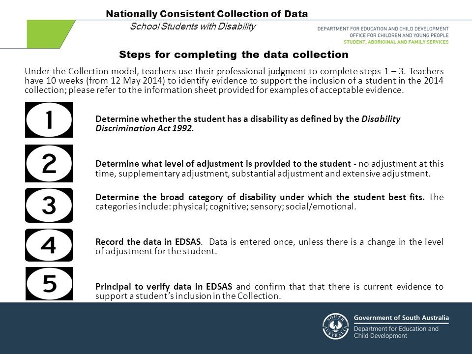 Nationally Consistent Collection of Data