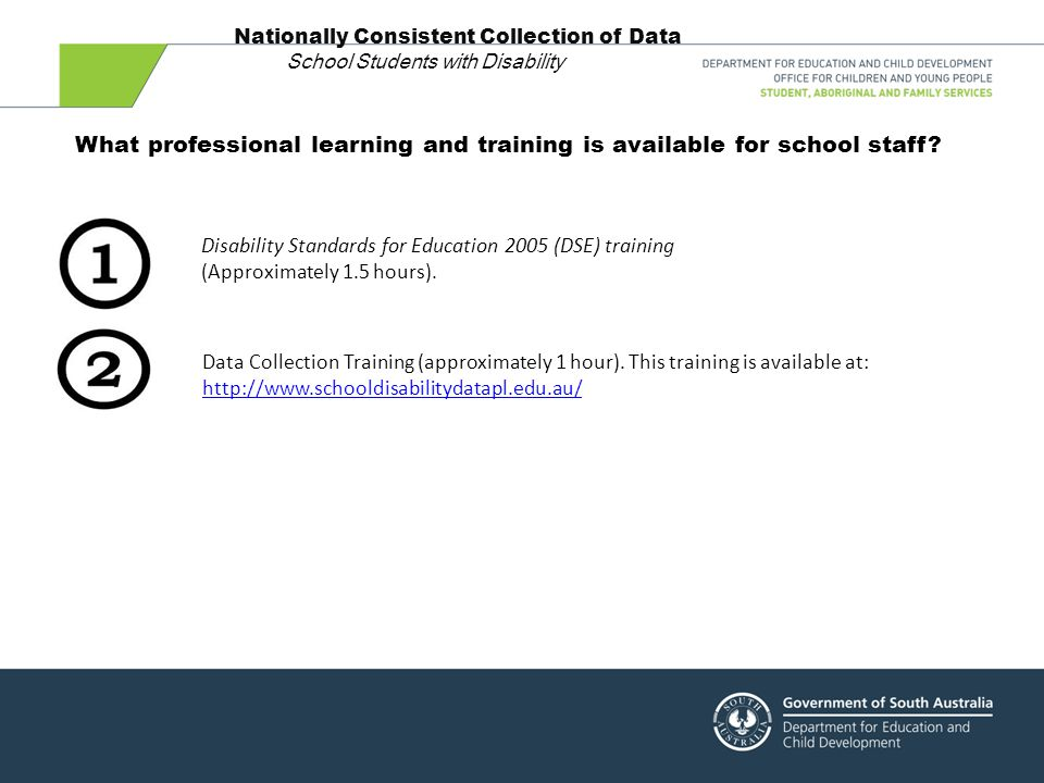 Disability Standards for Education 2005 (DSE) training