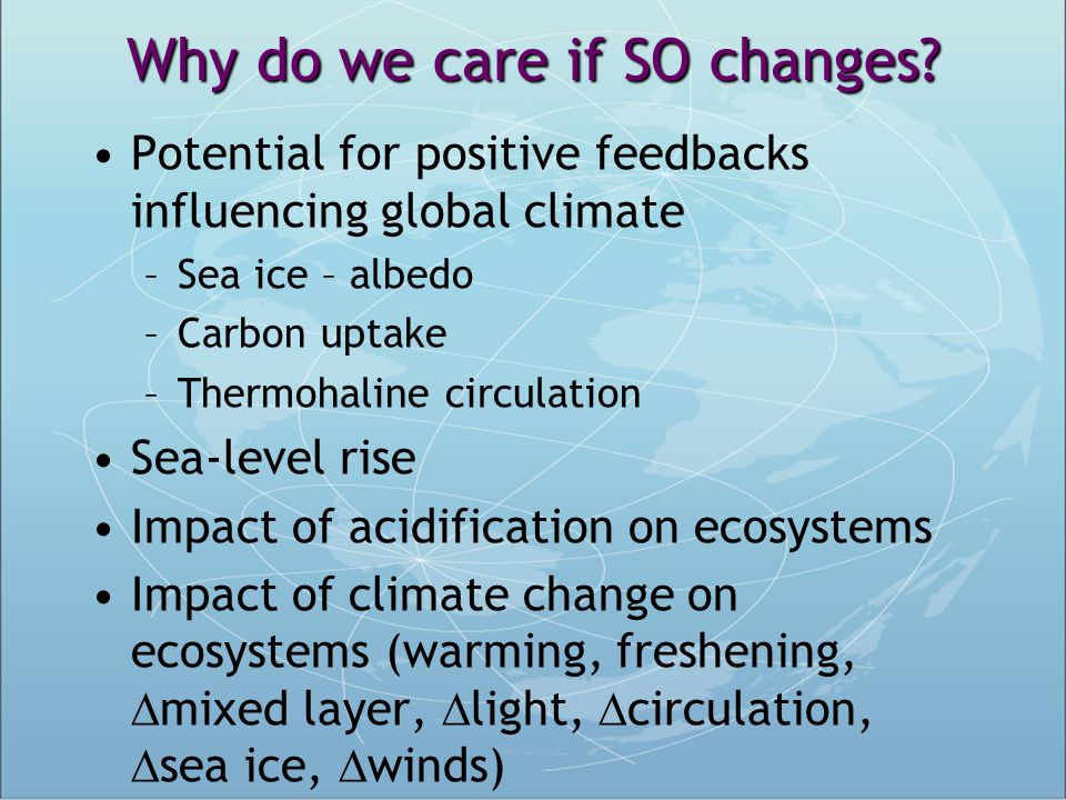 Why do we care if SO changes