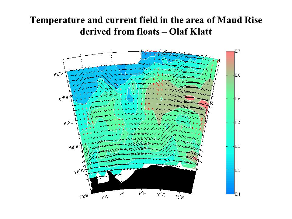 Temperature and current field in the area of Maud Rise derived from floats – Olaf Klatt