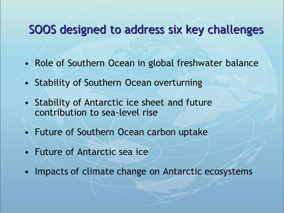 SOOS designed to address six key challenges