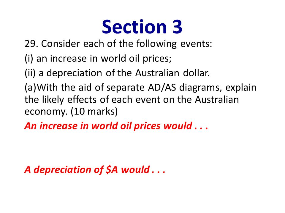 Section 3 29. Consider each of the following events: