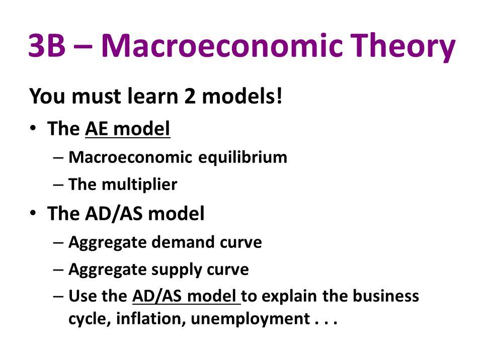 3B – Macroeconomic Theory