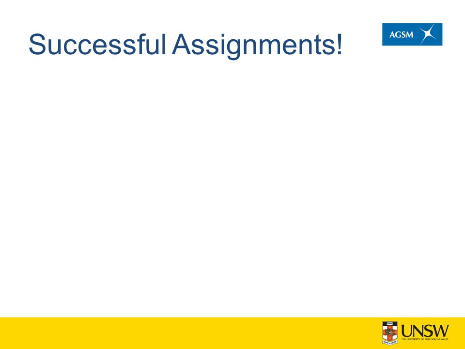 Successful Assignments!