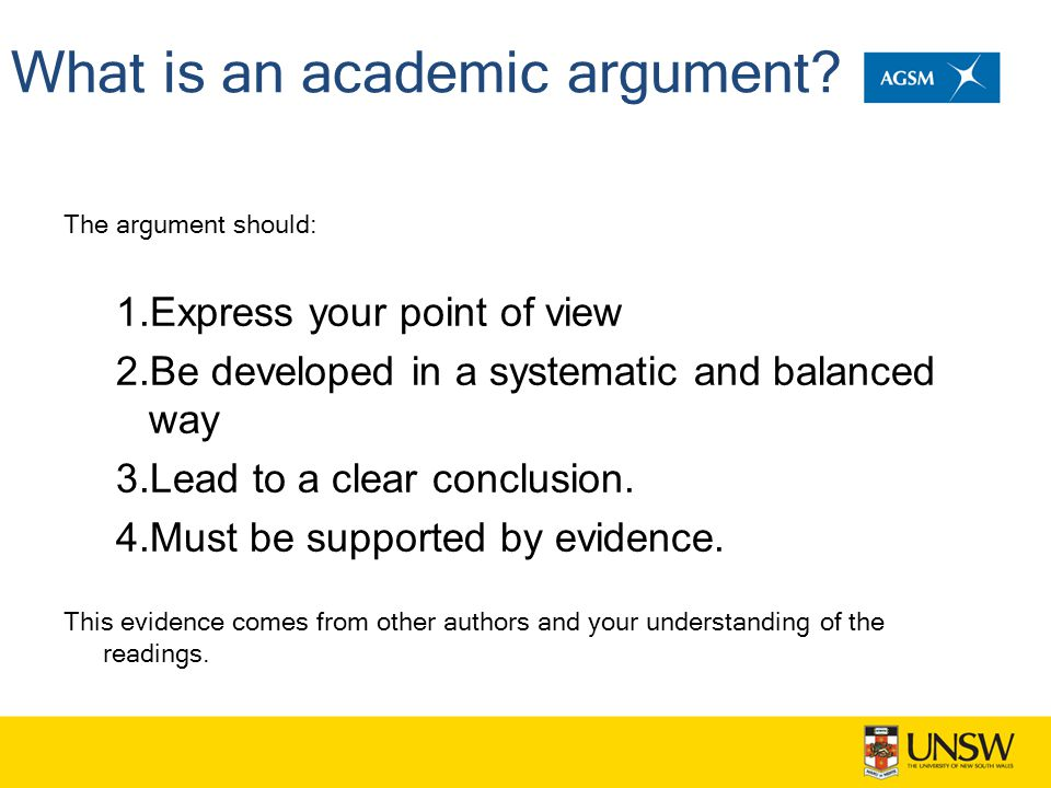 What is an academic argument