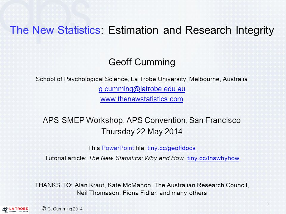 The New Statistics: Estimation and Research Integrity