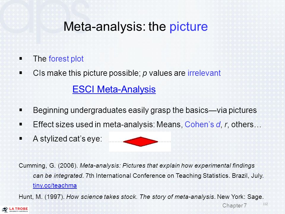 Meta-analysis: the picture