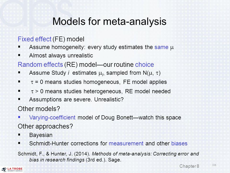 Models for meta-analysis