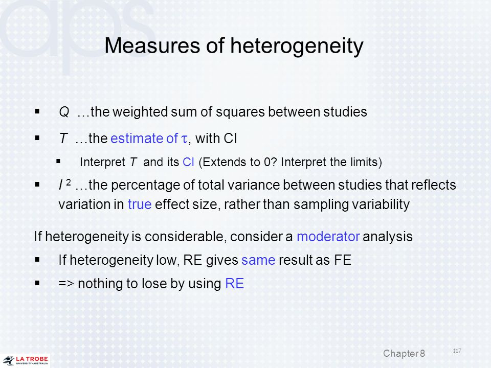 Measures of heterogeneity
