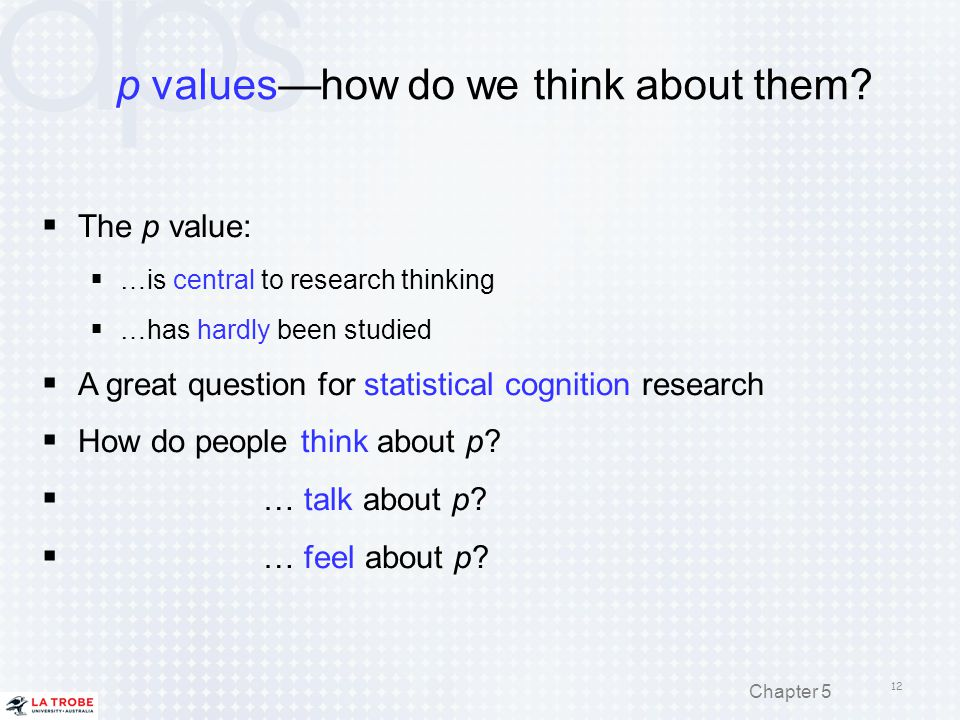 p values—how do we think about them