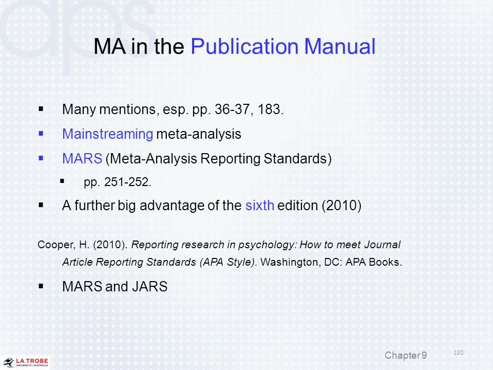 MA in the Publication Manual