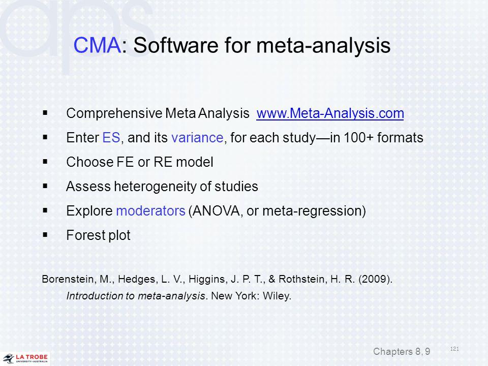 CMA: Software for meta-analysis