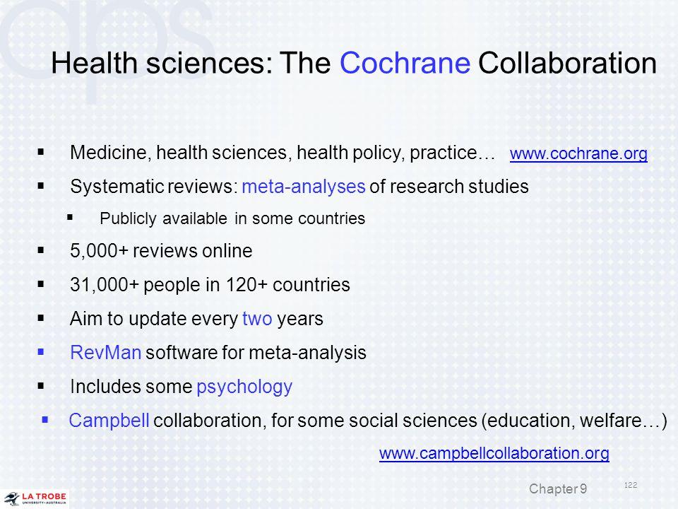 Health sciences: The Cochrane Collaboration