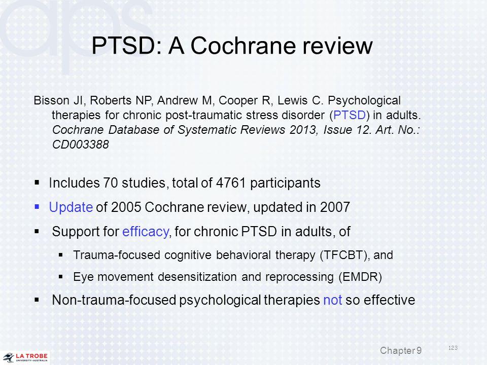 PTSD: A Cochrane review