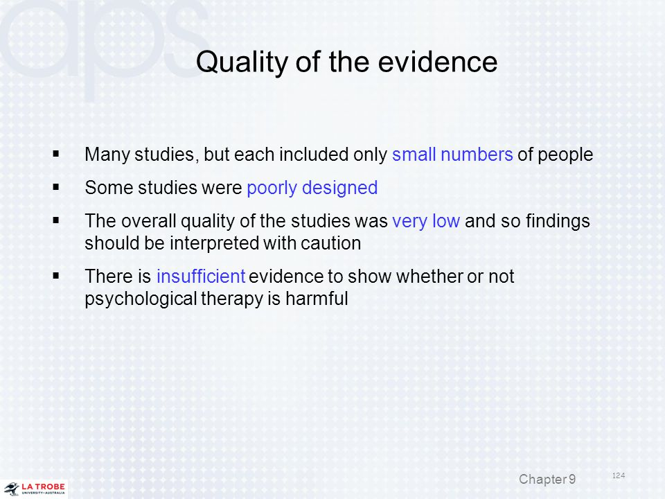 Quality of the evidence