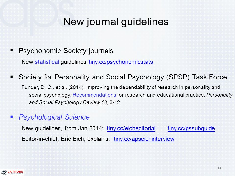 New journal guidelines