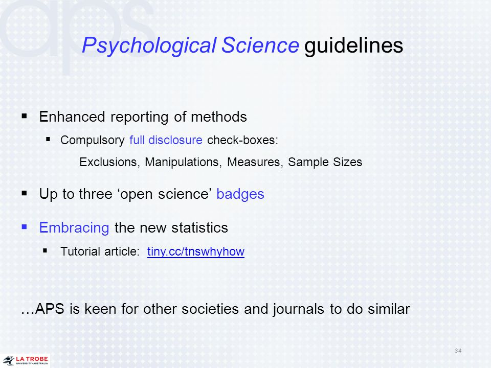 Psychological Science guidelines