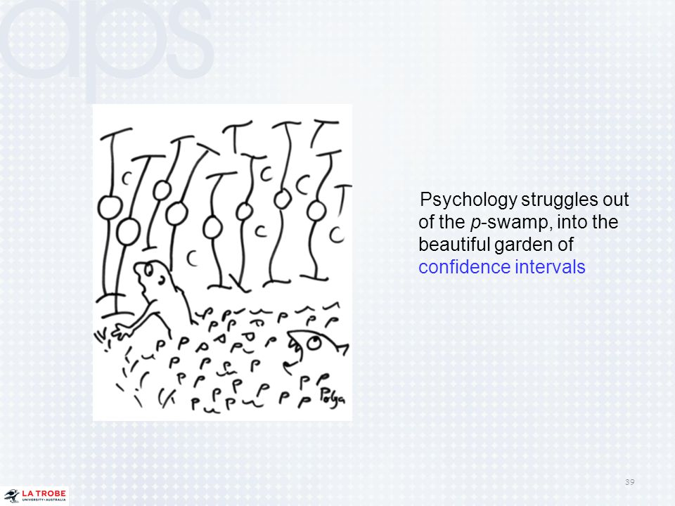 Psychology struggles out of the p-swamp, into the beautiful garden of confidence intervals