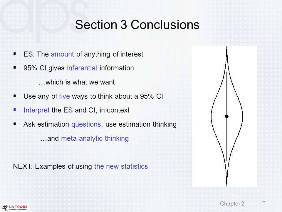 Section 3 Conclusions ES: The amount of anything of interest