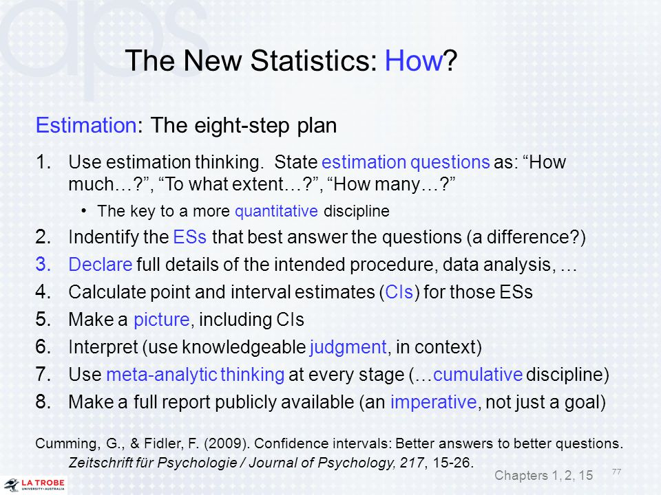 The New Statistics: How