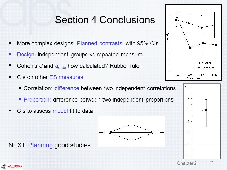 Section 4 Conclusions NEXT: Planning good studies